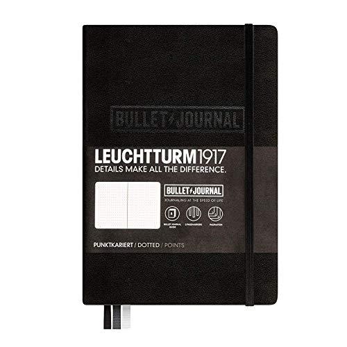 LEUCHTTURM1917 346703 Bullet Journal Libreta, Medium (A5) tapas duras, 240 páginas numeradas, puntos, negro