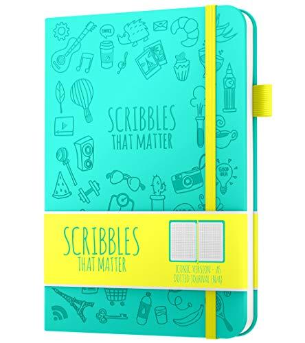 Diario de puntos A5 de Scribbles That Matter - Cuaderno Bullet Journal Dot Grid - Papel apto para plumas estilográficas gruesas sin...
