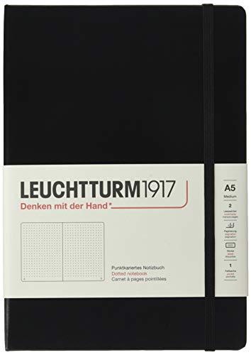 Notizbuch Medium A5 dotted schwarz