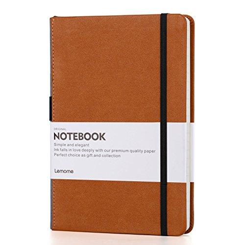 Cuaderno Cuadrado/Grid Cuaderno - Cuaderno Clásico de Tapa Dura Lemome con Soporte Para Bolígrafos Bucle- Papel Premium Grueso +...