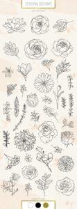plantillas flores 4