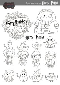 plantillas harry potter 1