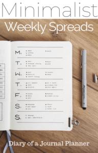 bullet journal minimalista weekly