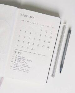 bullet journal minimalista idea extra