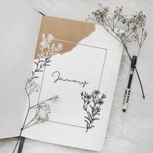 bullet journal minimalista enero
