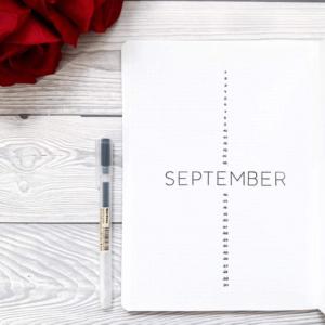 bullet journal minimalista septiembre