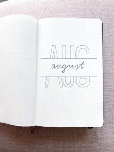 bullet journal minimalista agosto