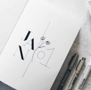 bullet journal minimalista january