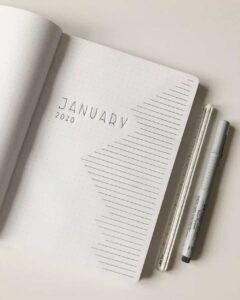 bullet journal minimalista january 2020