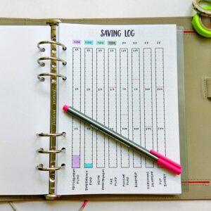 bullet journal saving track