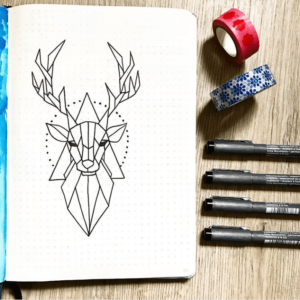 bullet journal animales decoración