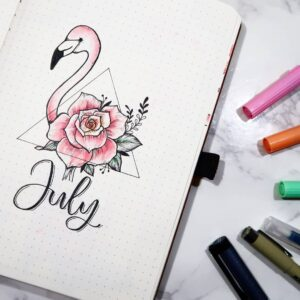 bullet journal animales julio