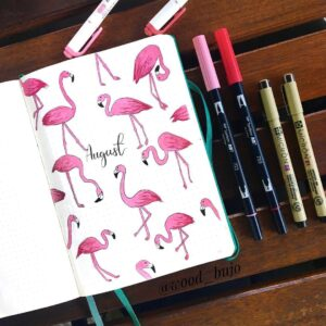 bullet journal animales agosto
