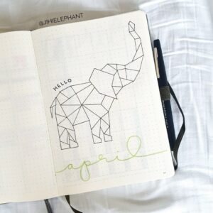 bullet journal animales elefante