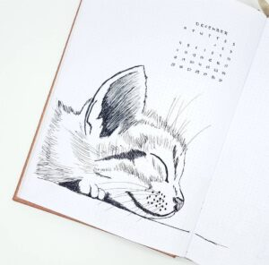 bullet journal animales diciembre