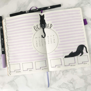 bullet journal animales octubre