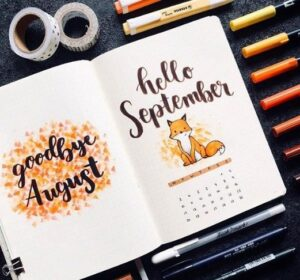 bullet journal animales portada septiembre