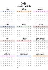 bullet journal calendario 10