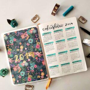 bullet journal calendario 12
