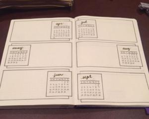 bullet journal calendario 3