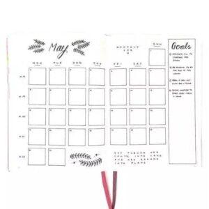 bullet journal calendario mensual 1