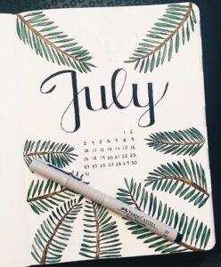 bullet journal calendario mensual 10