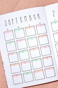 bullet journal calendario mensual 11