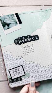 bullet journal calendario mensual 13