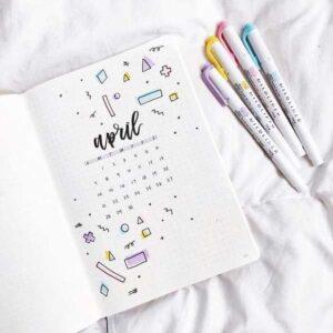 bullet journal calendario mensual 15