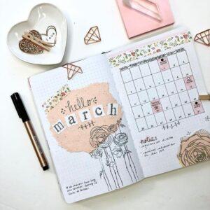 bullet journal calendario mensual 2