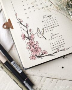 bullet journal calendario mensual 3