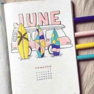 bullet journal calendario mensual 6