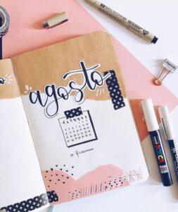 bullet journal calendario mensual 7