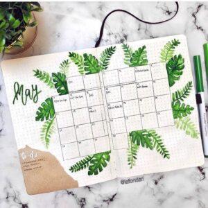 bullet journal calendario mensual 8