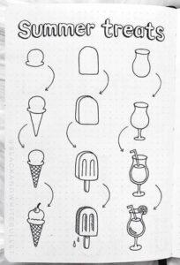 bullet journal doodles 10