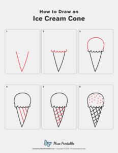 bullet journal doodles ice cream