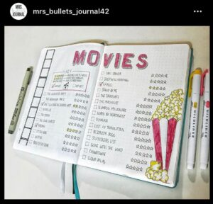 bullet journal films tracker