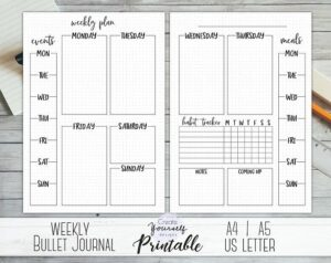 bullet journal plantilla semanal 10