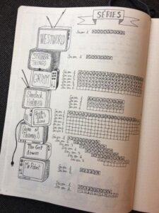 bullet journal registro de pelis