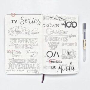 bullet journal series tracker titles