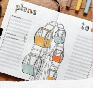 bullet journal verano plans