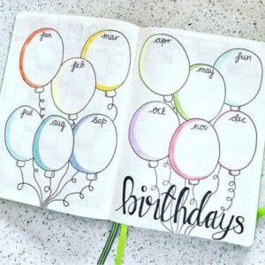 bullet journal cumpleaños 4
