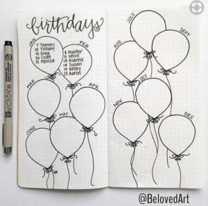 bullet journal cumpleaños 5