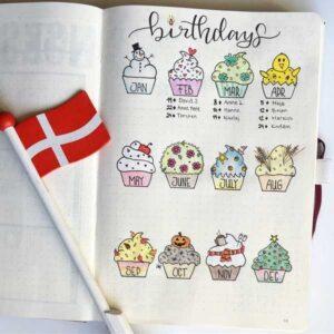 bullet journal cumpleaños 7