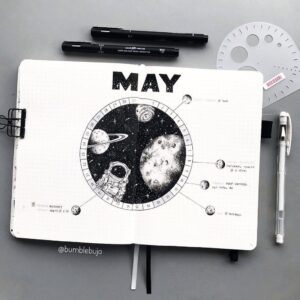 bulet journal espacio mayo
