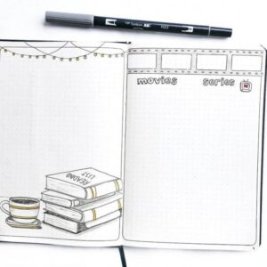 film tracker bullet journal