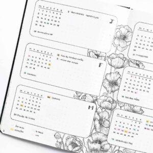 bullet journal floral semanal completo