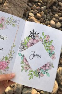 bullet journal floral junio