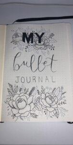 bullet journal floral portada bullet
