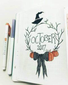 bullet journal halloween